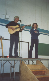 Aaron and Kim at Luxton School for Literacy week, March